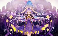 Télécharger fonds d'écran Vocaloid, Aoki Lapis, Yuzuki Yukari, female anime characters, jellyfish