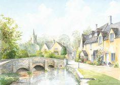Castle Combe Wiltshire - Prints Of Painting Drury Art Gallery