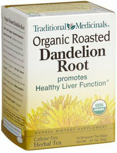 Traditional Medicinals Organic Roasted Dandelion Root, 16-Count Boxes (Pack of 6) - http://goodvibeorganics.com/traditional-medicinals-organic-roasted-dandelion-root-16-count-boxes-pack-of-6/