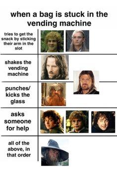 Lotr, Tolkien Hobbit, O Hobbit, Hobbit Funny, Hobbit Humor, Legolas, Thranduil, Aragorn, Tumblr Funny