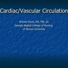 Cardiac/Vascular Circulation Brenda Rowe, RN, MN, JD  Georgia Baptist College of Nursing  of Mercer University    C.O. = Stroke Vol. X Heart Rate Preload. http://slidehot.com/resources/cardiac-powerpoint.18832/