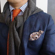 orange & blue yes, scarf maybe not.