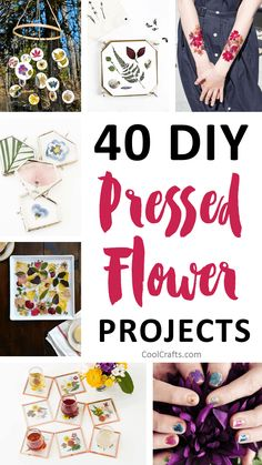 40 Stunning Pressed Flower Art Ideas is part of Dried Flower crafts - We compiled a list of 40 DIY pressed flower ideas for you to make If you love beautiful flowers, then this pressed flowers roundup will inspire you Nature Crafts, Fun Crafts, Diy And Crafts, Crafts For Kids, Diy Home Decor Projects, Diy Projects To Try, Craft Projects, Dried And Pressed Flowers, Pressed Flower Art