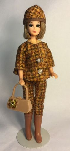 Vintage Topper Dawn Doll Jessica In Vintage Tiny Teen Wintertime Fashion & Wig