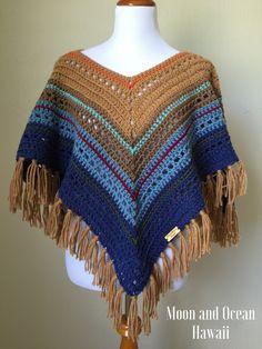 b8d2b43e7b Crochet Poncho by moonandoceanhawaii Crochet Ponchos