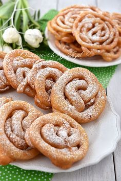 Chrust lany Baking Recipes, Cookie Recipes, Snack Recipes, Snacks, Pineapple Coconut Bread, Polish Recipes, No Bake Cake, Sweet Recipes, Food To Make