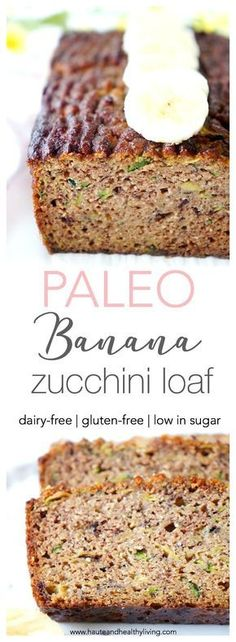 Healthy Snacks This flourless banana zucchini loaf makes a great healthy snack, dessert or quick and easy breakfast! It's also packed full of nutrients, moisture and flavour! Gluten-fee, dairy-free and paleo Zucchini Banana Bread, Paleo Dessert, Dessert Recipes, Banana Dessert, Paleo Sweets, Dairy Free Recipes, Gourmet Recipes, Banana Recipes Paleo, Vegan Recipes