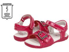 New Pediped Flex Maggie Fuchsia Pink Leather Open Toed Sandals Toddler Girls Shoes -                     Price:              View Available Sizes & Colors (Prices May Vary)        Buy It Now      She will stand out in this bright fuchsia sandal that is perfect for summer! The Maggie features fun star & heart cut outs and a faux buckle detail.   FREE SHIPPING!! All...