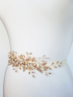 Bridal crystal belt sash Swarovski bridal belt by SabinaKWdesign