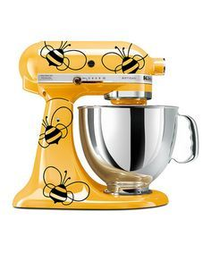 Bumblebee Kitchenaid  I have a yellow one. Im going to paint it to look like this....
