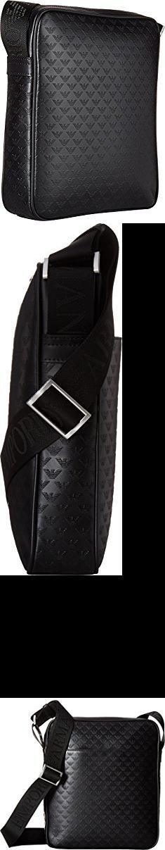 c25a9eae3c16f Emporio Armani Bags. Emporio Armani Men s Eagle Embossed Messenger Bag  Black One Size.  . Hommes ArmaniEmporio ArmaniSacs ...