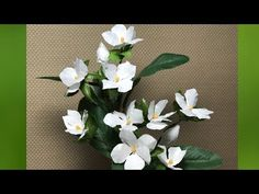 折り紙の花フラワーアート・ジャスミン~折り方解説付き~How to fold a jasmine flowers