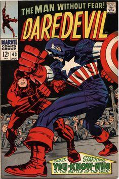 Jack Kirby and Joe Sinnott cover, Daredevil #43 (1968 ).