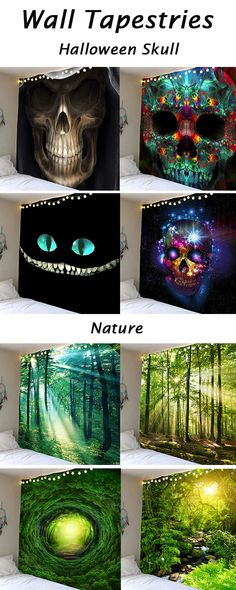 home decor ideas:Wall Tapestries Home Projects, Projects To Try, Zentangle, Halloween Skull, My New Room, Wall Tapestries, Wall Murals, Wall Art, Painted Rocks