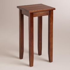 One of my favorite discoveries at WorldMarket.com: Small Mahogany Chloe Accent Table - good size, but too light color for living room?