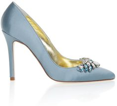 Satin blue wedding shoes. Click on the image to see our full gallery of Best Blue Wedding Shoes.