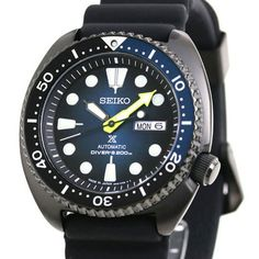 Seiko Prospex New Turtle Taucher Cool Watches, Watches For Men, Black Watches, Chronograph, Seiko Automatic, 200m, Young Fashion, Seiko Watches, Watch Brands