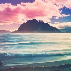 Pink and blue ~ summertime on the coast, beach ∘✱ Bella Montreal ✱∘