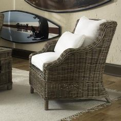 $667.49 Tenerife Kubu Wicker Lounge Chair | Overstock.com Shopping - The Best Deals on Living Room Chairs
