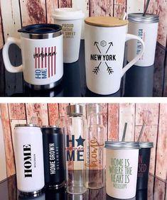 HOME GROWN DRINKWARE by M2O.  EACH DESIGN IS AVAILABLE FOR ANY STATE, CITY OR ZIP CODE! Zip Code, Drinkware, Gears, Mugs, City, Tableware, Projects, Design, Log Projects