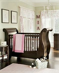 Baby room - love the cherry wood