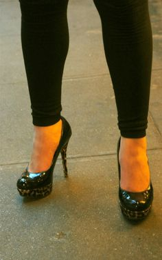 Bamboo Heels seen in NYC on 57th Street outside BLT Steak (Medium Rare Please). Try the Pop-Overs w some butter and their Pate. Ouch.