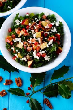 Our Festive Chopped Salad is a great addition to a festive table and an easy way to ensure your plate is balanced with a good portion of vegetables. Chopped Salad, Pasta Salad, Festive, Vegetarian Recipes, Salads, Vegetables, Ethnic Recipes, Health, Food