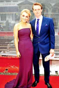 Evanna Lynch and boyfriend Robbie Jarvis (teenage James Potter in OotP) attend the Irish Film and Television Academy Awards, nominated for Best Actress for My Name Is Emily, Dublin, 9 Apr. 2016