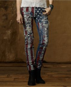 Denim & Supply Ralph Lauren Jeans, Skinny American Flag - Womens Denim & Supply Apparel - Macy's