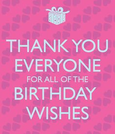HOW TO SAY THANK YOU TO YOUR FRIENDS FOR BIRTHDAY WISHES ON FACEBOOK - Google Search