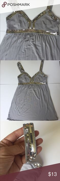 Express top Express flowy top with silver sequence size S in exelent condition no missing sequence Express Tops