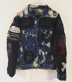Distressed denim punk rock, heavy metal, road warrior, horror movie, rock let Jacket from Chad Cherry Clothing. Denim Jacket Men, Denim Jackets, Bad Fashion, Mens Fashion, Punk Clothes, Rock Style Men, Battle Jacket, Drag King, Punk Outfits