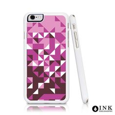 Abstract Pink Triangle Cell Phone Case Dark Pink by InkPhilosophy