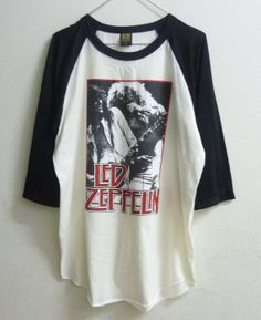 Raglan tshirt size M  L Led Zeppelin shirt  men women by 699shirt, $16.90