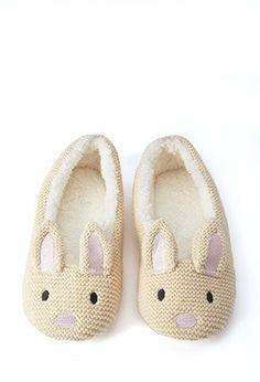 Bunny Slippers | Forever 21 - everyone needs a pair o' deez