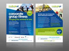 corporate fitness gym personal trainer leaflet design logo best flyer design