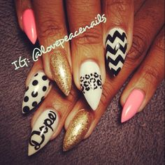 Nail art- I don't do pointy but these are great!