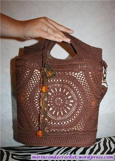 Una locura esta cartera…   Mi Rincon de Crochet