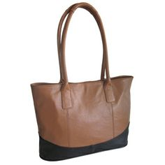 Amerileather Casual Leather Handbag   Overstock.com Shopping - The Best Deals on Tote Bags