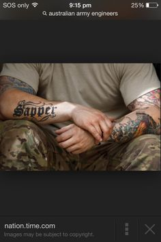 1000 images about australian army on pinterest for Combat engineer tattoo