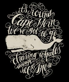 Wow, the hand-drawn type and whale illustration are awesome. By Jon Contino.