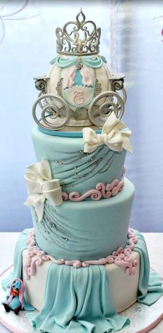 Cinderella Themed Birthday Cake