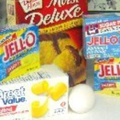 How to make Cake Mix with Pudding - scroll down for cake options: devils food with chocolate pudding + choc chips; vanilla cake & vanilla pudding with coconut milk, then cream cheese frosting + coconut.