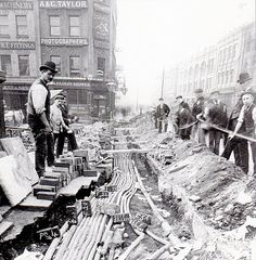 Going back, way back - The laying of electric-cables in Baldwin Street, UK in 1893. #archives #history via @brizzle born and bred