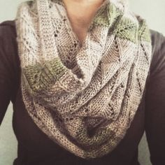 Ravelry: misdirected cowl pattern by Liz Abinante FREE Easy Knitting, Knitting Yarn, Knit Crochet, Crochet Pattern, Knit Lace, Free Pattern, Lace Knitting Patterns, Knit Scarf Patterns, How To Purl Knit