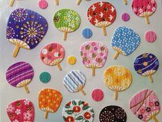 Paper Fans, Washi, Oriental, Kawaii, Japan, Stickers, Ideas Para, Unique Jewelry, Handmade Gifts
