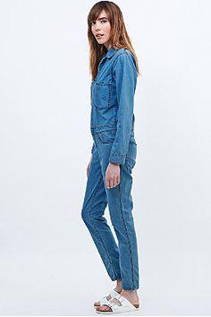 This is Welcome Blondie Denim Boiler Suit in Blue