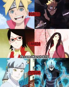 The future grown-up versions of Boruto, Sarada, Mitsuki ❤️❤️❤️