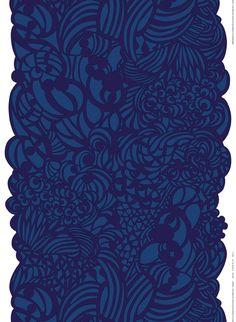 We offer a full selection of Marimekko cotton, linen, PVC-coated (oilcloth) fabrics by the yard. Textile Prints, Textile Design, Textile Art, Textiles, Bold Prints, Graphic Prints, Marimekko Fabric, Scandinavia Design, Outdoor Coats