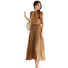 FUNOC Ladies Womens Vintage Boho Bohemia Sleeveless Pleated Chiffon Maxi Long Dress (L, Coffee) FUNOC http://www.amazon.com/dp/B00FHL1H22/ref=cm_sw_r_pi_dp_0VBRtb0N6W00JKNY